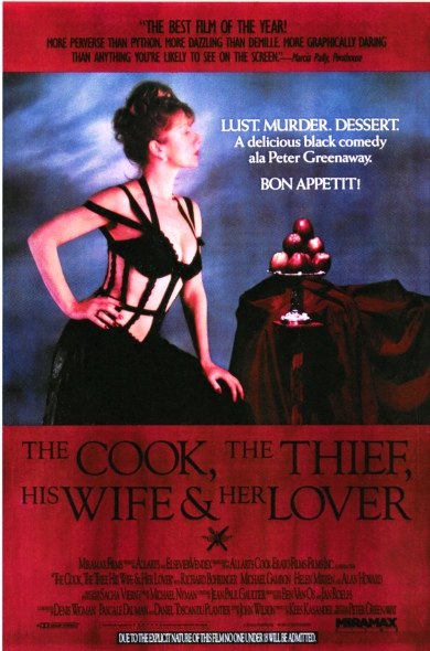 THE COOK, THE THIEF, HIS WIFE & HER LOVER   UK